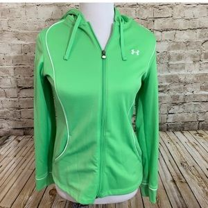Under armour lime green pullover sweatshirt